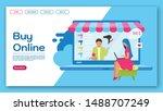 buy online landing page vector...