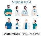 medical team presentation for... | Shutterstock .eps vector #1488715190