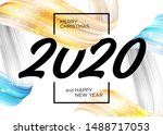 2020 happy new year background... | Shutterstock .eps vector #1488717053