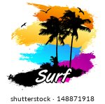 tropical surf  | Shutterstock .eps vector #148871918