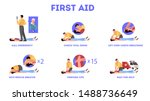 first aid steps in emergency... | Shutterstock .eps vector #1488736649