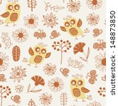 seamless pattern with funny... | Shutterstock .eps vector #148873850