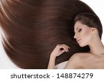 beautiful hair. top view of... | Shutterstock . vector #148874279