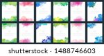 big series of glowing colourful ... | Shutterstock .eps vector #1488746603