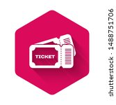 white ticket icon isolated with ... | Shutterstock .eps vector #1488751706