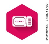 white ticket icon isolated with ... | Shutterstock .eps vector #1488751709