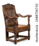 Small photo of Antique oak wainscot chair carved sixteenth to seventeenth century