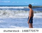 Large And Foamy Waves Rushed To ...