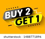 buy 2  get 1 sale banner.... | Shutterstock .eps vector #1488771896