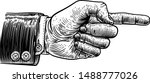 a hand pointing a finger in a...   Shutterstock .eps vector #1488777026