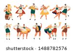 oktoberfest. funny cartoon... | Shutterstock .eps vector #1488782576