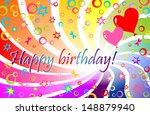 happy birthday  raster copy | Shutterstock . vector #148879940