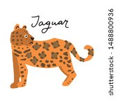 south america jaguar animal...   Shutterstock .eps vector #1488800936