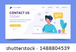 contact us landing page. man... | Shutterstock .eps vector #1488804539