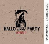 halloween party label template. ...   Shutterstock .eps vector #1488805133