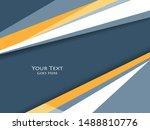 vector modern cover template.... | Shutterstock .eps vector #1488810776