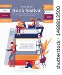 book festival banner. cartoon... | Shutterstock .eps vector #1488813500