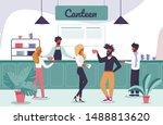 happy cartoon people characters ...   Shutterstock .eps vector #1488813620