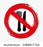 no food sign. vector icon.   Shutterstock .eps vector #1488817763
