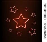 neon light star  illustration ...
