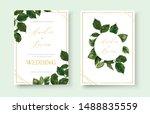 wedding greenery floral... | Shutterstock .eps vector #1488835559