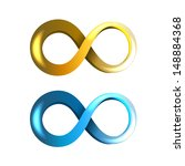 blue and yellow infinity icons... | Shutterstock .eps vector #148884368