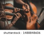 Small photo of String quartet with cello in the background - Wallpaper, Background