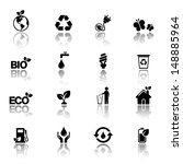 ecology icon set | Shutterstock .eps vector #148885964