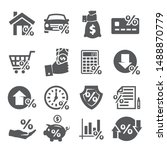 loan and credit icons on white... | Shutterstock . vector #1488870779