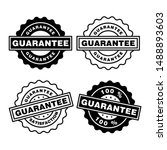 guarantee rubber stamp icon... | Shutterstock .eps vector #1488893603