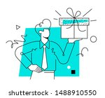 office worker in formal wear... | Shutterstock .eps vector #1488910550