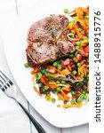 grilled steak with vegetables... | Shutterstock . vector #1488915776