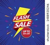 flash sale design for business. ... | Shutterstock .eps vector #1488920246