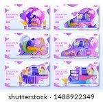 set of online education webpage ... | Shutterstock .eps vector #1488922349