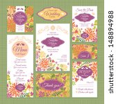 set 6 of wedding cards. wedding ... | Shutterstock .eps vector #148894988