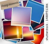 template square photos with an... | Shutterstock .eps vector #1488951386