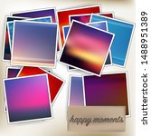 template square photos with an... | Shutterstock .eps vector #1488951389