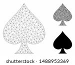mesh spades suit model with... | Shutterstock .eps vector #1488953369