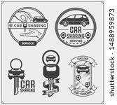 car sharing service emblems and ... | Shutterstock .eps vector #1488959873
