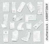 rumpled realistic receipt set.... | Shutterstock .eps vector #1488972869