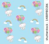 cute seamless pattern of... | Shutterstock .eps vector #1488980186