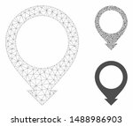 mesh map pointer model with... | Shutterstock .eps vector #1488986903