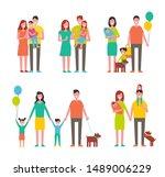 family members cartoon...   Shutterstock . vector #1489006229