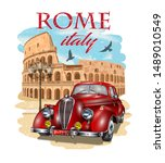 Rome Typography For T Shirt...