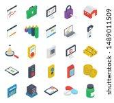 pack of logistics isometric... | Shutterstock .eps vector #1489011509