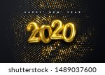 happy new 2020 year. holiday... | Shutterstock .eps vector #1489037600