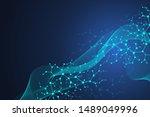 scientific molecule background... | Shutterstock . vector #1489049996