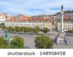 rossio square in the central... | Shutterstock . vector #148908458