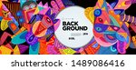 colorful abstract banner... | Shutterstock .eps vector #1489086416