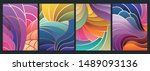 mosaic stained glass window... | Shutterstock .eps vector #1489093136
